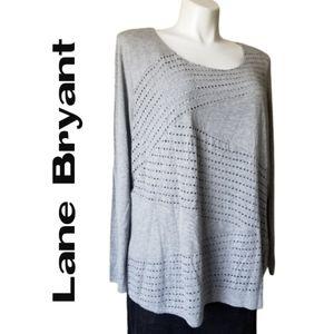 Lane Bryant Gray Long Sleeves t-shirt NWT! 26/28